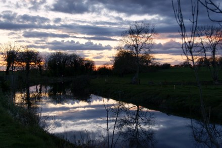 Apr 14 - Sunset along the Royal Canal, Ireland,