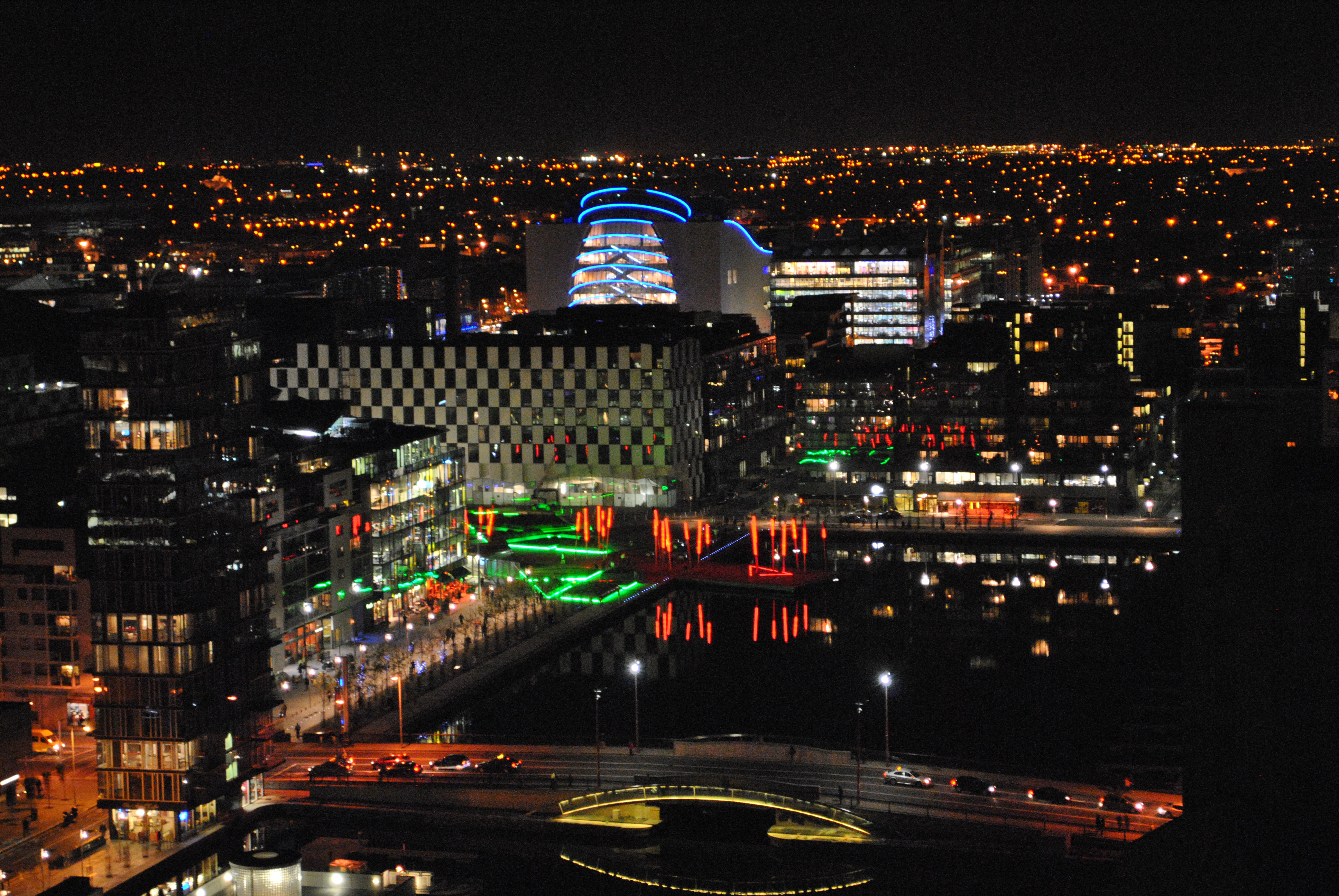 Dublin Night Out Dublin Night View Across