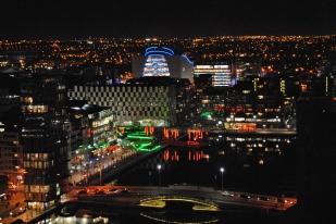 Dublin night view... across Grand Canal Dock