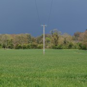 Apr 22, Ominous sky and green pasture...