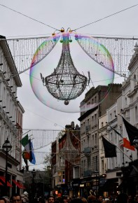 Nov 24 - Bubbles on Grafton Street, Dublin