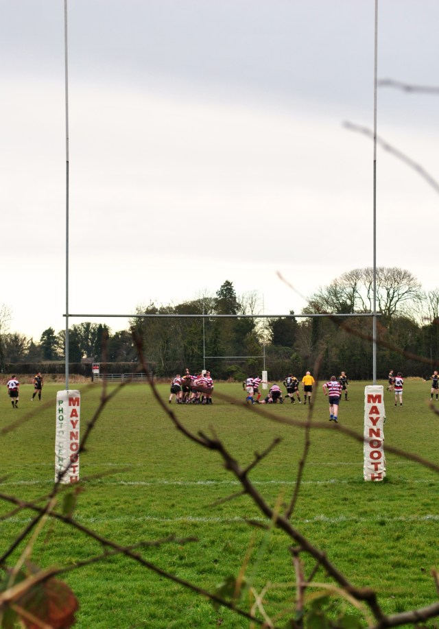 Rugby at North Kildare Club... soggy, cold!