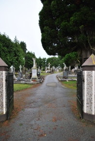 The gates to Kilcock Cemetery...