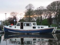 Easter 2012, Sarah Jane at Richmond Harbour ate the western end of the Royal Canal...
