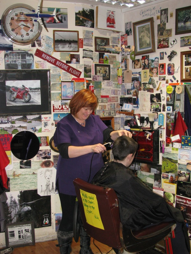 Susan in the shop... it's now almost a year since the photo was taken...