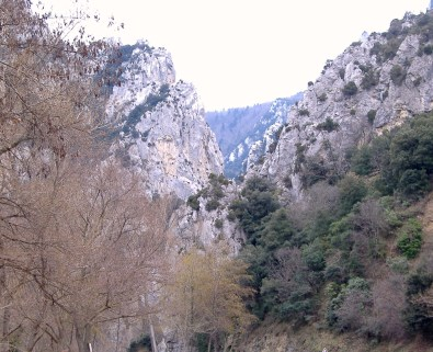 The Aude Valley, somewhere near Quillan in the Languedoc, France