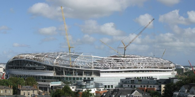 A view of the Aviva during construction...