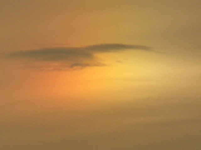 Sun dog over Kildare, Ireland
