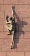 Shadow on the wall... Aspiration – The Climbing Woman… Artist: Rowan Gillespie