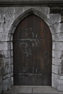Door Detail as seen from the south