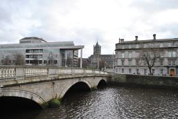 Christ Church Cathedral as seen from the north bank of the Liffey...