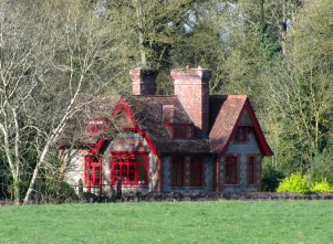 Shadows and light... the Red Cottage near Summerhill in Meath...