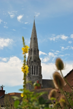 Unique? yep... summer steeple and flowers...