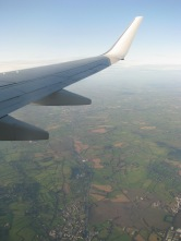 Shortly after take-off from Dublin International... the Kildare countryside below...