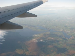 Blessington Lakes from the air, Ireland