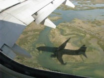 More shadows... final approach at Faro Airport...