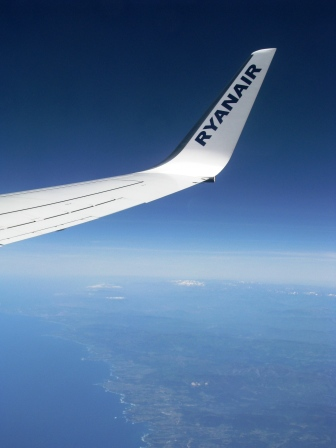 Blue sky over Ireland on the way home...