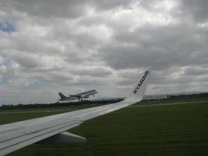 Dublin International... we taxi while the others get airborne...