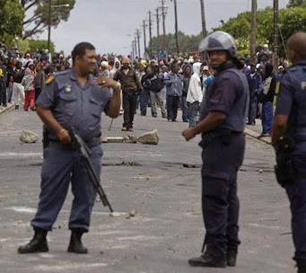 The policing of  public violence in South Africa