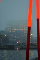Where's the top of that building going? Google Docks building is partially engulfed in the mist...