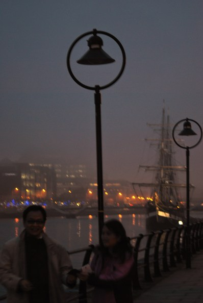 More happy snappers... the Jeanie Johnston in the mist...