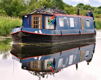 If only! Maybe one day we'll get used to seeing the South African Flag in such tranquil settings! Grand Canal, July 2012...