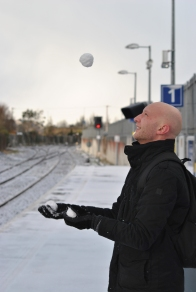 Throw those balls real high! Fun at Maynooth Station on a March Monday...
