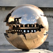 The sphere within the sphere's detail... a newer addition to the Trinity Campus...