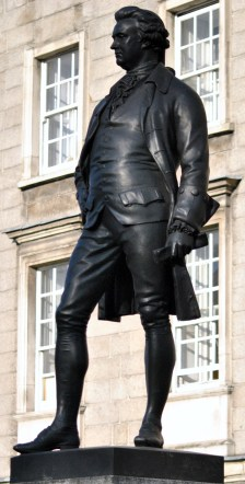 Statue at Trinity Collage, Dublin - Edmund Burke outside the main entrance...