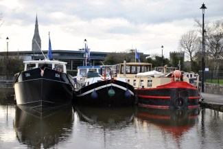 Contrasting styles of boats...