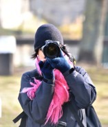 Pale Pink? No... bright pink! Note the Nikon!! ;-)
