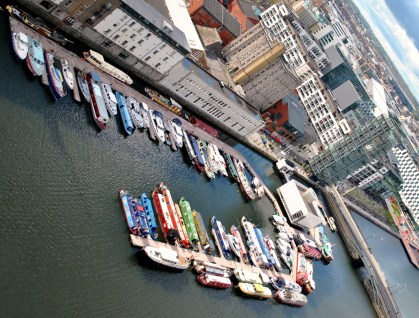 Early May 2013 look at the Grand Canal Dock boats... FUN! Anyone spot 31B?