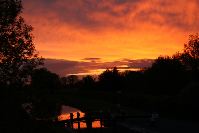 Summer sunset at the 14th Lock, Royal Canal... Ireland