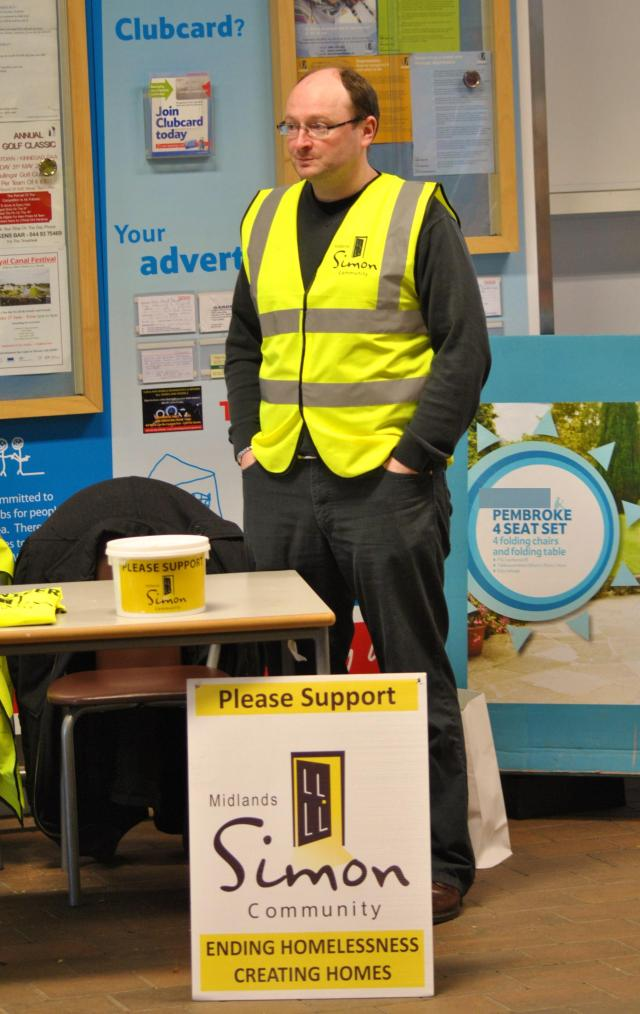 CL of Midlands SIMON manning a collection table on a Saturday Afternoon. Thanks...