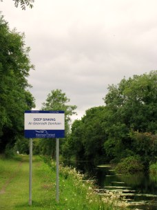 The beginning of the Deep Sinking on the Royal Canal, Ireland