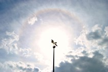 Halo around the sun... as seen from NKCC, Kildare, Ireland late may 2012