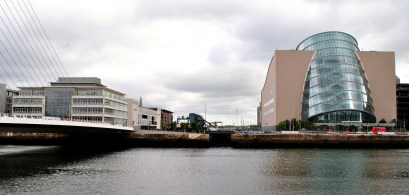 Yes, that almost invisible bit in the center on the waterline is the beginning of the Royal Canal on the Liffey