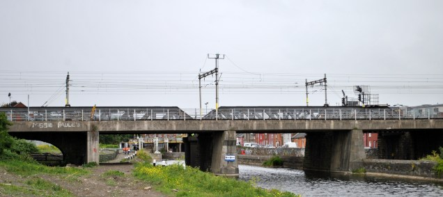The high level rail bridges at the top end of Spencer Dock. How many times have I crossed over there? Countless!