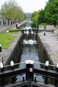 The 1st Lock of the Royal Canal, Croke Park in the distance...