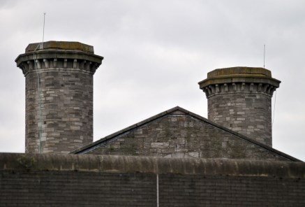 Some of the imposing towers behind the stark walls of the Mountjoy Prison... The Joy, as it's know locally has been the home to many in the past decades... not a place you want to be!!