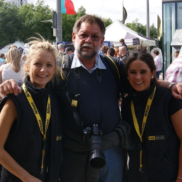 Those two Nikon lasses make any old codger and his camera look good!