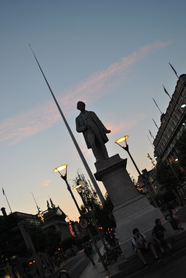 O'Connell Street sunset, 22h00 on a balmy summers eveing in Dublin, Ireland