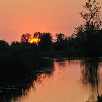 Royal Canal, Ireland sunset