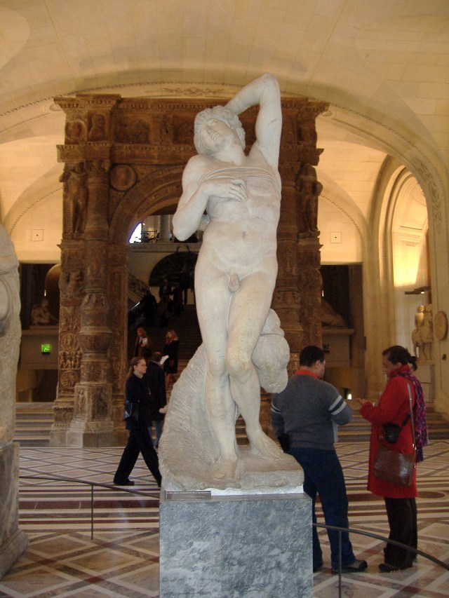 Michelangelo's Dying Slave in the Louvre, as seen by me on a beautiful day!