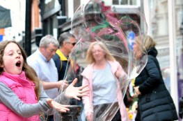 How's that for a foam party? More Grafton Street fun!! Let's play...