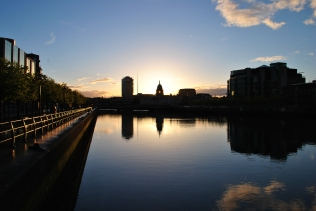 Liffey Sunset, The Custom House Building, the Spires... and THAT other nest of unease...