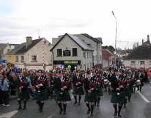 And the band plays... St Patrick's day in Kilcock... just so Ailsa doesn't get too homesick!