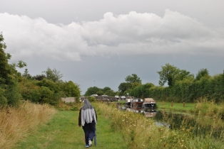 03 Aug 13, 17h10 - Landscape... Junior Son leads the way toward the 15th Lock on the Royal Canal, Ireland...