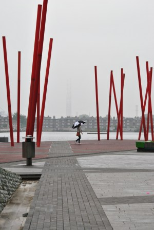Poolbeg in the mist... lines and cross lines...