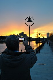 Take that happy snap big boy... take that happy snap!! Dublin Quays October sunset...